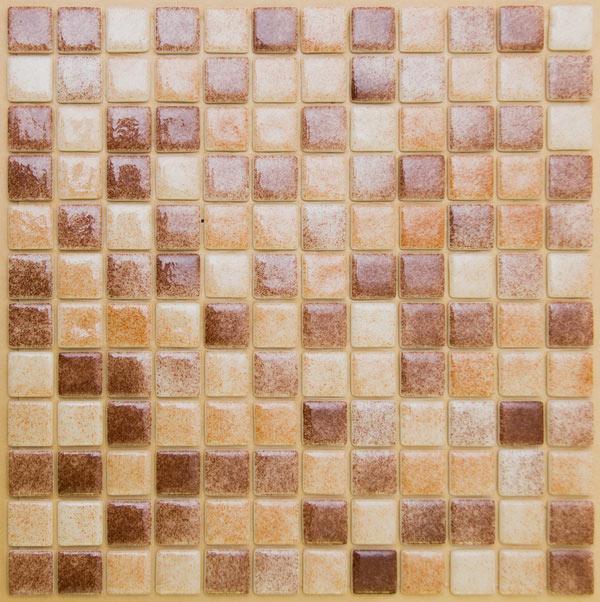 Мозаика стеклянная Коричневая - св.Коричневая ST-S-018