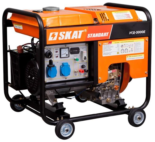 Бензиновые и дизельные генераторы (электростанции) SKAT