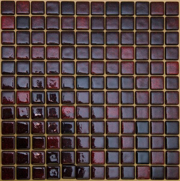 Мозаика стеклянная На Черной Красная Артикул: FLP-S-038