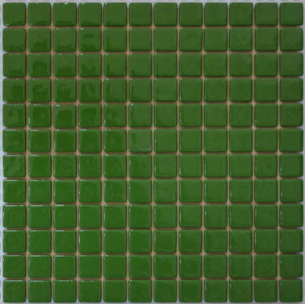 Мозаика стеклянная плитка Зеленая FL-M-053