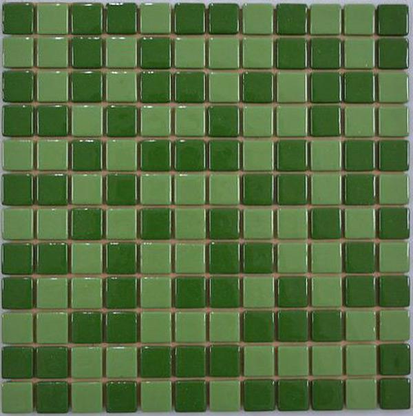 Мозаика плитка стеклянная Зеленая + салатная FL-S-072