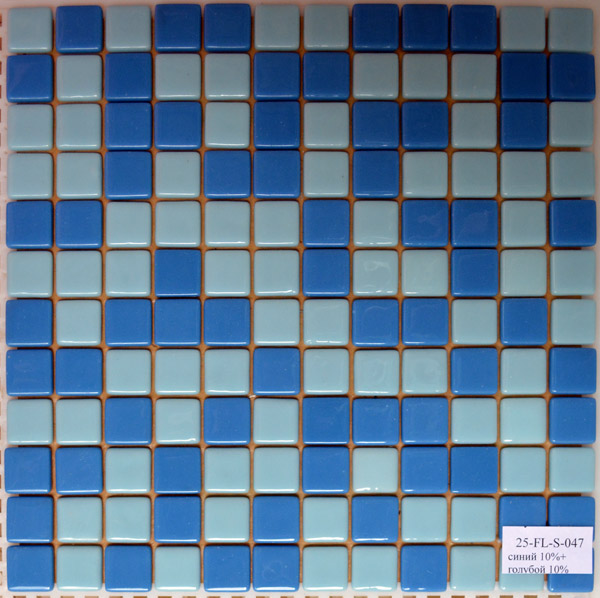Мозаичная плитка Синяя 10% + Голубая 10% FL-S-047